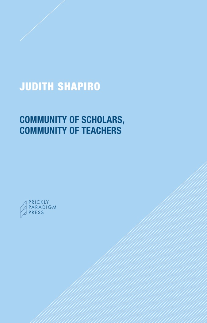 Community of Scholars, Community of Teachers Cover
